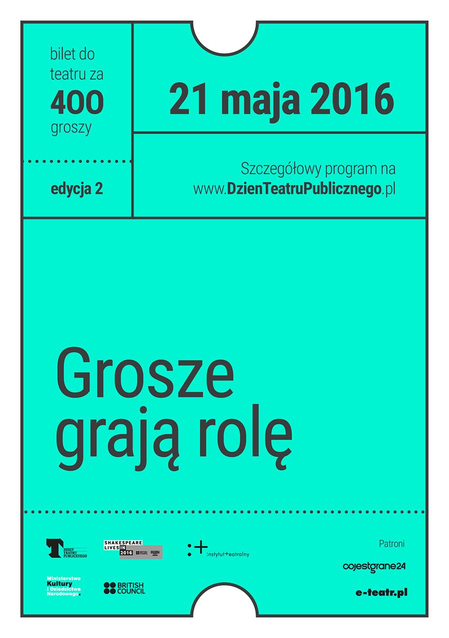 Dzień Teatru Publicznego - bilet za 400 groszy